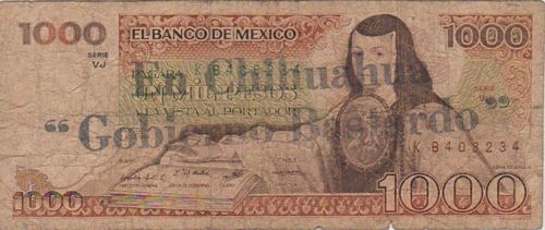 Banco de Mexico 1000 KB408234