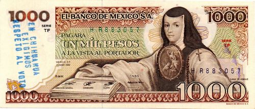 Banco de Mexico 1000 TF 883057