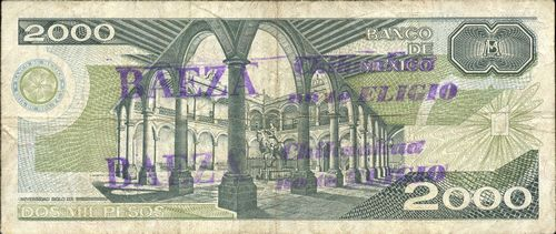 Banco de Mexico 2000 BP144427 reverse