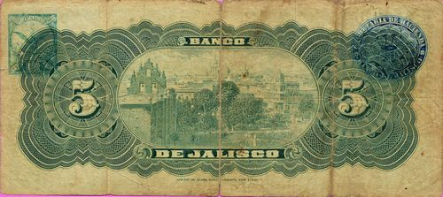 Jalisco 5 A 046375 reverse