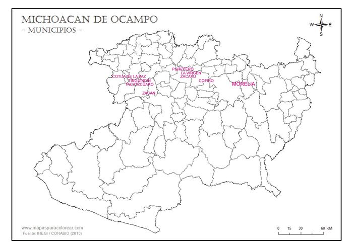 Michoacan commercial west central