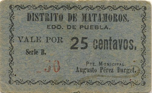 Matamoros 25c 2 blue
