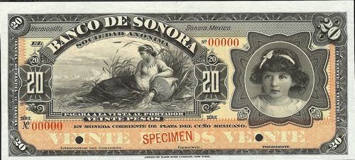Banco de Sonora 20 00000 white back