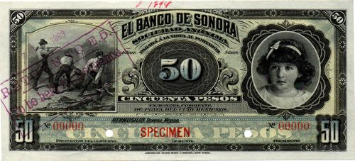 Banco de Sonora 50 00000 white back