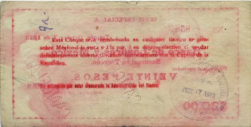 Deutsch on Londres 20 reverse